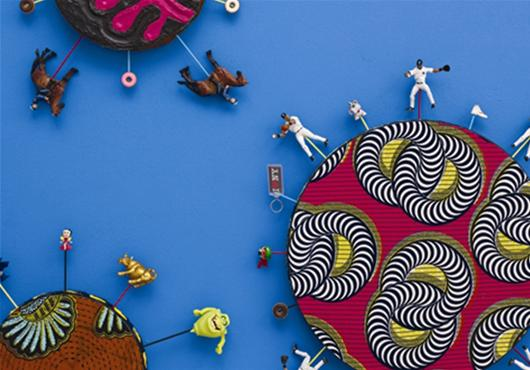 Yinka Shonibare MBE, New York Toy Painting (detail), 2012. Courtesy the artist and James Cohen Gallery, New York